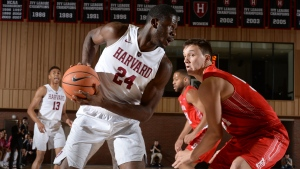 Harvard University basketball player Chris Egi (#24) is shown in a handout photo. (THE CANADIAN PRESS/HO-Harvard Athletic Communications)