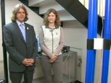 Thoth Technology Inc. co-founders Caroline Roberts Brendan Quine speak with Canada AM on Monday, July 20, 2009.
