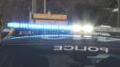Police sirens at night