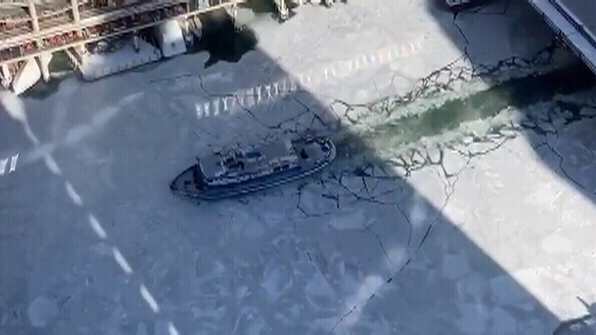 0fc6e2cc5b Watch an icebreaker make its way up Chicago River | CTV News