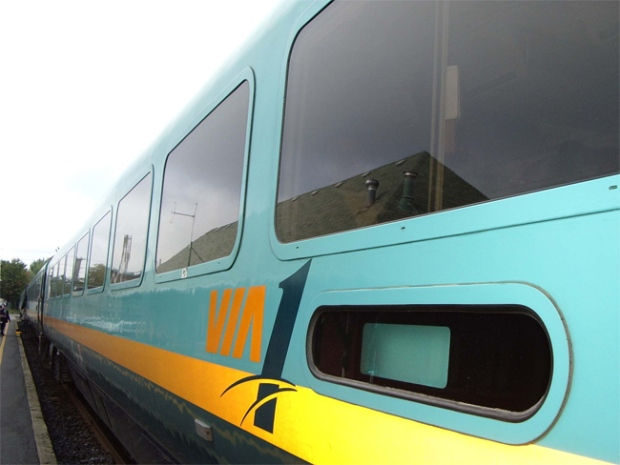 A VIA Rail First Class train is seen in this image courtesy VIA Rail Canada.
