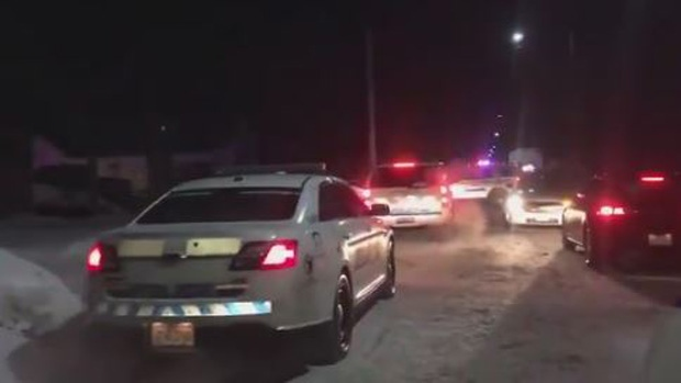 There was a heavy police presence in a Moncton neighbourhood early in the morning on Jan. 31, 2019.