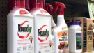 Containers of Roundup, left, a weed killer is seen on a shelf with other products for sale at a hardware store in Los Angeles on Thursday, Jan. 26, 2017. A battle over the main ingredient in Roundup, the popular weed killer sprayed by farmers and home gardeners worldwide, is coming to a head in California, where officials want to be the first to label the chemical, glyphosate, with warnings that it could cause cancer. Chemical giant Monsanto has sued the nation's leading agricultural producer, saying state officials illegally based their decision for warning labels on an international health organization. (AP Photo/Reed Saxon)