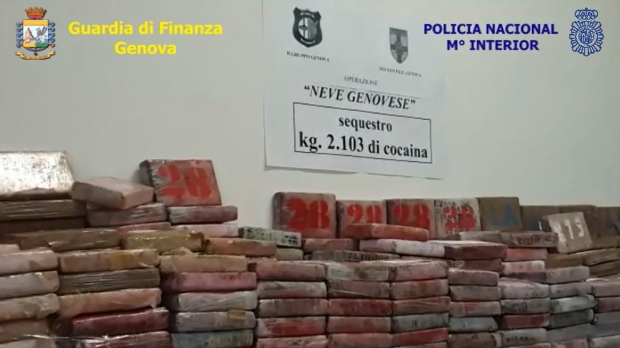 Italy makes biggest cocaine bust in 25 years