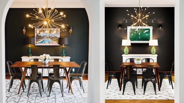6c76e266e21 The photo of the dining room on the left was created by Jack Ryan Design.  The image on the right was posted on the Home Depot website.
