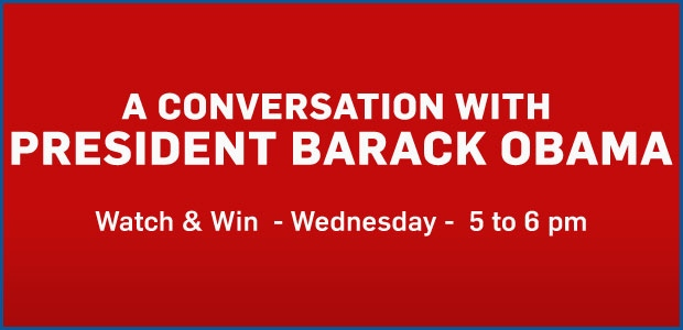 Watch and Win Wednesdays 5-6pm Hour Banner