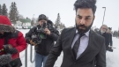 Jaskirat Singh Sidhu, the driver of the truck that struck the bus carrying the Humboldt Broncos hockey team arrives for closing arguments at his sentencing hearing, Thursday, January 31, 2019 in Melfort, Sask.THE CANADIAN PRESS/Ryan Remiorz