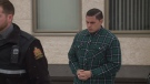Duran Redwood, accused of second degree murder in relation to his girlfriend's death, leaves Court of Queen's Bench in Regina on January 16th, 2019.