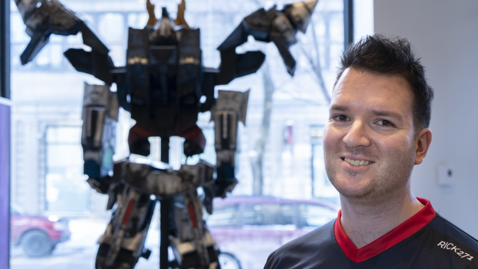 Patrick Rheaume-Espinoza, operations director for the Montreal Esports Academy, is pictured in Montreal on Thursday, January 31, 2019. THE CANADIAN PRESS/Paul Chiasson