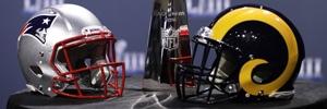 Patriots and Rams at NFL Super Bowl 53