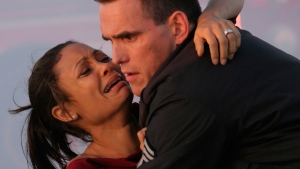 "This undated photo provided by Lions Gate Films shows actors Thandie Newton, left, and Matt Dillon in a scene from ""Crash.""(AP Photo/Lions Gate Films, Lorey Sebastian)"