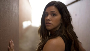 Gina Rodriguez in 'Miss Bala.' (Gregory Smith / Sony Pictures via AP)