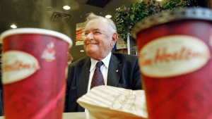 Tim Hortons co-founder Ron Joyce is photographed in Toronto on Friday, October 20, 2006. Joyce has died at age age 88. THE CANADIAN PRESS/Aaron Harris