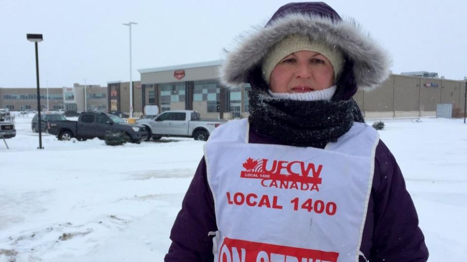 "Co-op employee Jodi Smith says the strike is ""demoralizing.' (Ashley Field/CTV Saskatoon)"