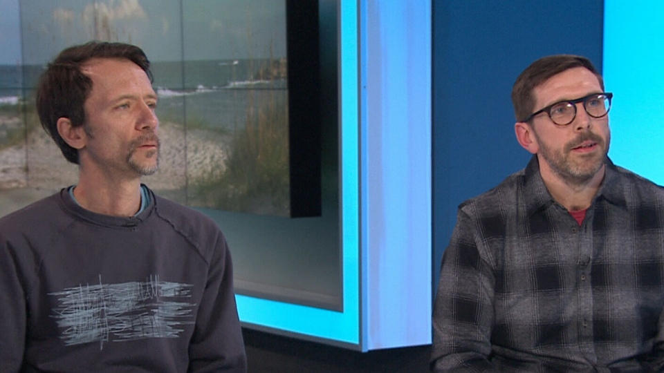 Darcy Losell (left) and James Boyd (right) of the band Mamals speak to CTV News Channel on Feb. 1, 2019.