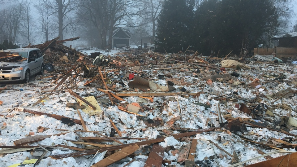 0f03002b000 The scene of devastation following a house explosion that killed one person  in Caledon