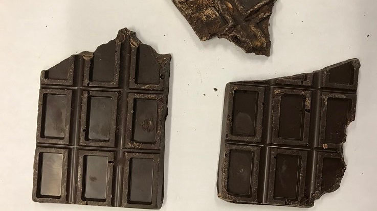 Children aged two and five were taken to hospital after consuming a chocolate bar containing cannabis, police in Manitoba say. (Brandon Police / Twitter)