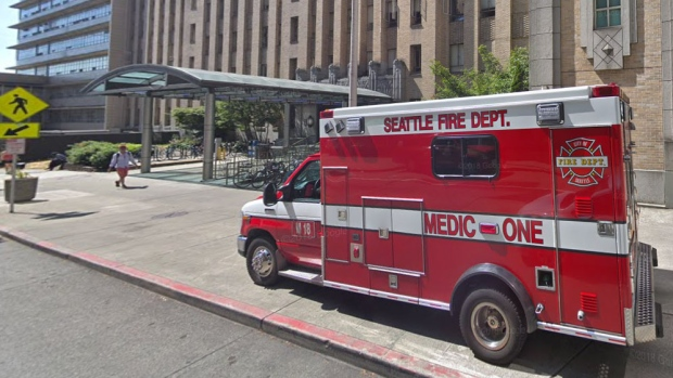 This image from Google Maps shows the Harborview Medical Center in Seattle, Wash.
