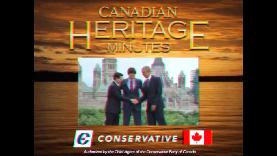 The Conservative Party released this spoof of Canadian Heritage Minutes on social media. (Andrew Scheer/ Twitter)