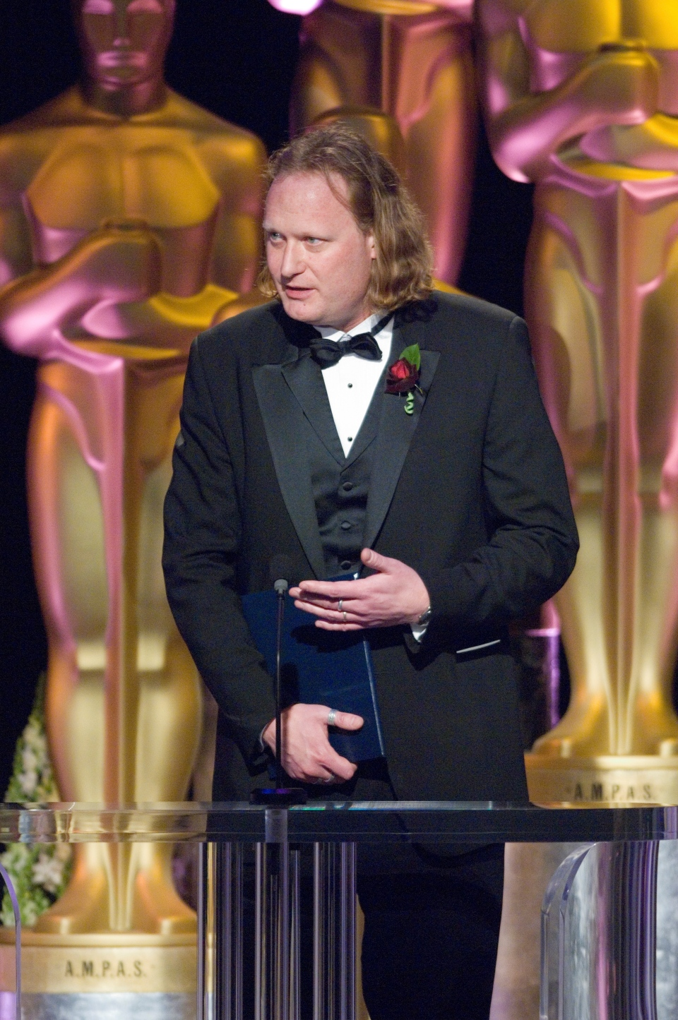 Canadian graphics researcher Jos Stam receives a 2006 Sci-Tech Oscar from the Academy of Motion Picture Arts and Sciences in a handout photo. THE CANADIAN PRESS/HO-Academy of Motion Picture Arts and Sciences MANDATORY CREDIT