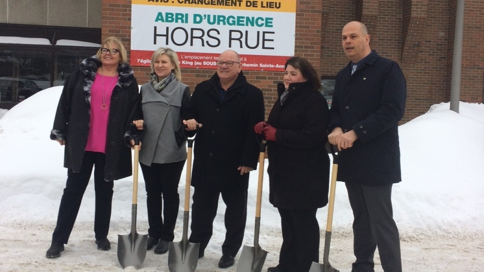 Ground breaking at new social services building