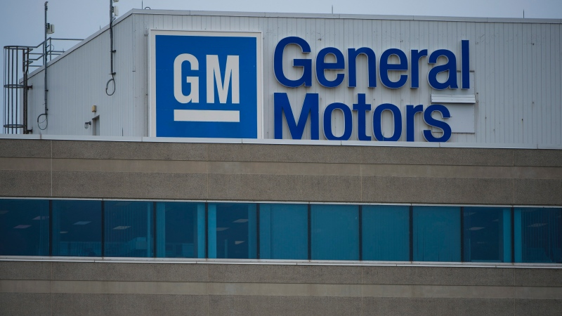 The General Motors Canada office in Oshawa, Ont., is photographed on Wednesday, June 20, 2018. (THE CANADIAN PRESS/ Tijana Martin)