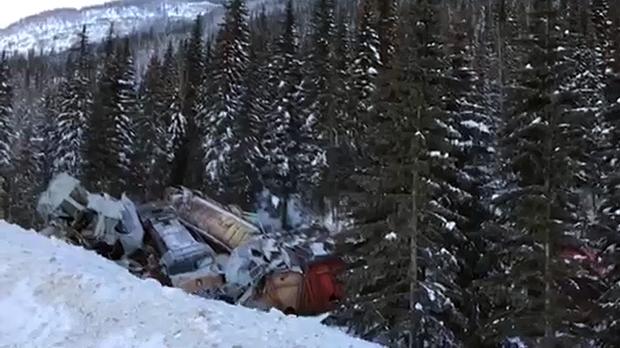 TSB officials are investigating a fatal train derailment near Field, B.C. (CTV Calgary)