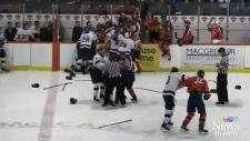 Ugly hockey brawl video goes viral