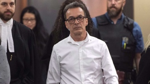 Michel Cadotte, accused of murder in the 2017 death of his ailing wife in what has been described as a mercy killing, is seen at the courthouse in Montreal on January 7, 2019. THE CANADIAN PRESS/Paul Chiasson