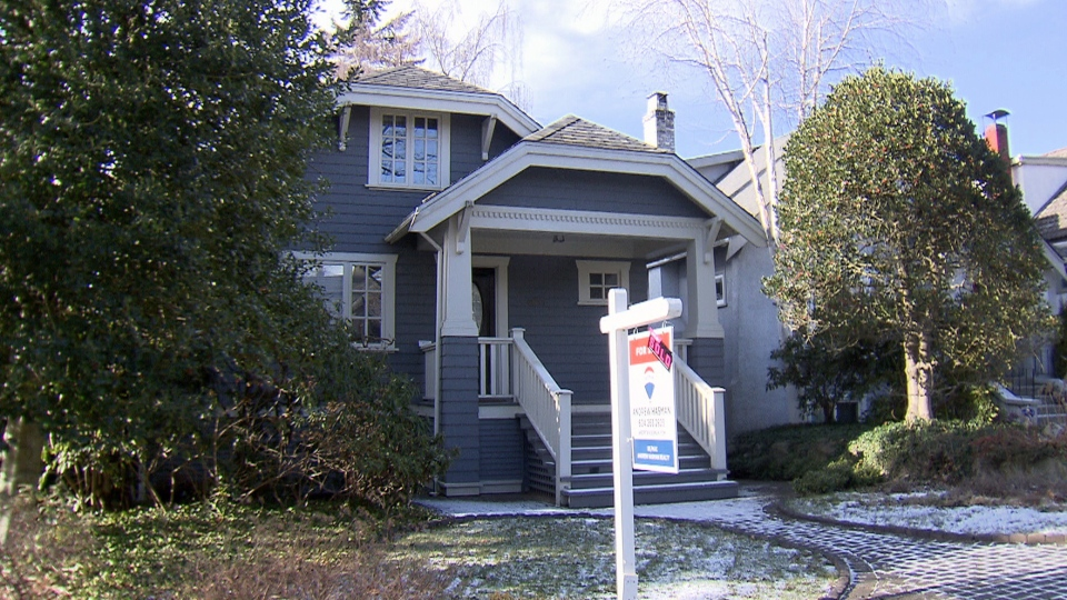 A sold home is seen on Vancouver's West Side.