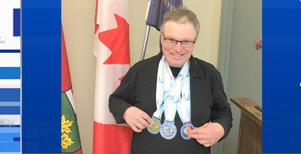 Ashley Keizer of Timmins with his medals