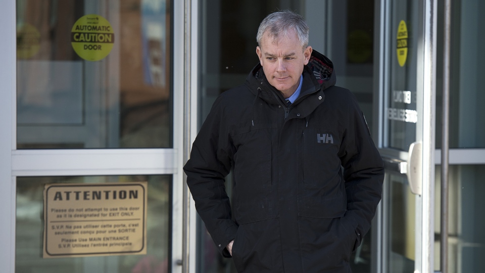 Dennis Oland heads from the Law Courts in Saint John, N.B., on Tuesday, Jan. 29, 2019 as his trial in the bludgeoning death of his millionaire father, Richard Oland, continues.  (THE CANADIAN PRESS/Andrew Vaughan)