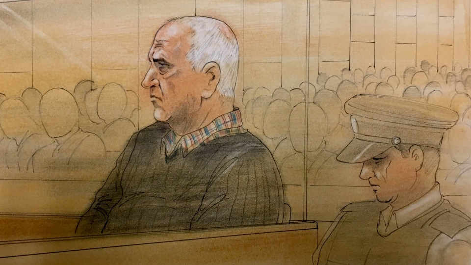 Serial killer Bruce McArthur is pictured in a Toronto courtroom at his sentencing hearing, Tuesday, Feb. 5, 2019. (John Mantha)