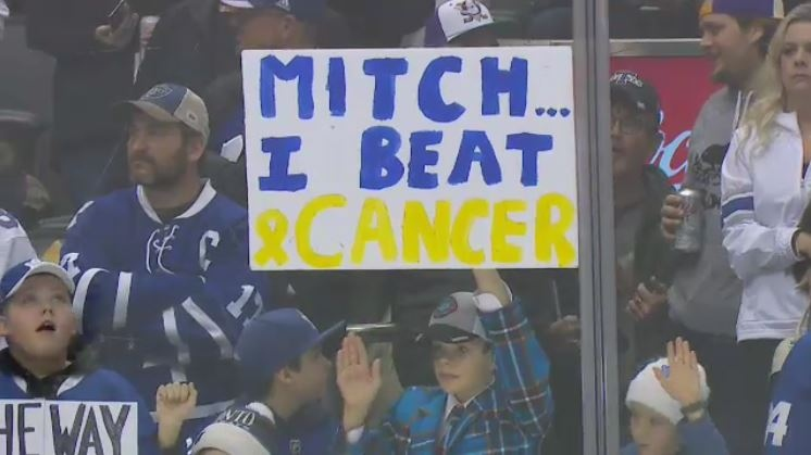 Cancer survivor gets stick at Leafs games