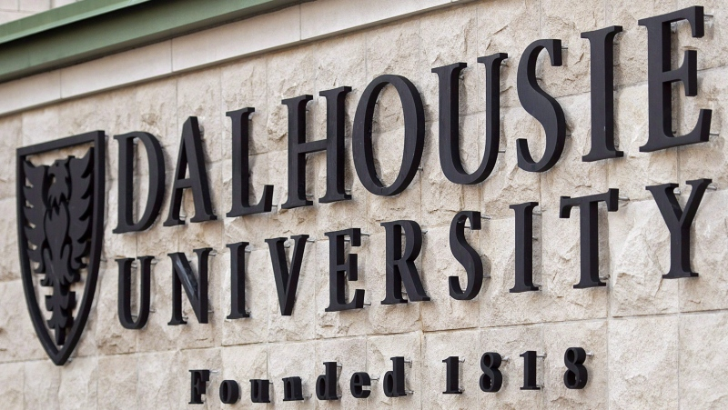 A Dalhousie University sign is seen in Halifax on January 6, 2015. (THE CANADIAN PRESS/Andrew Vaughan)