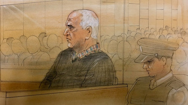 Serial killer Bruce McArthur is seen appearing in a Toronto courtroom on Feb. 5, 2019. (John Mantha)