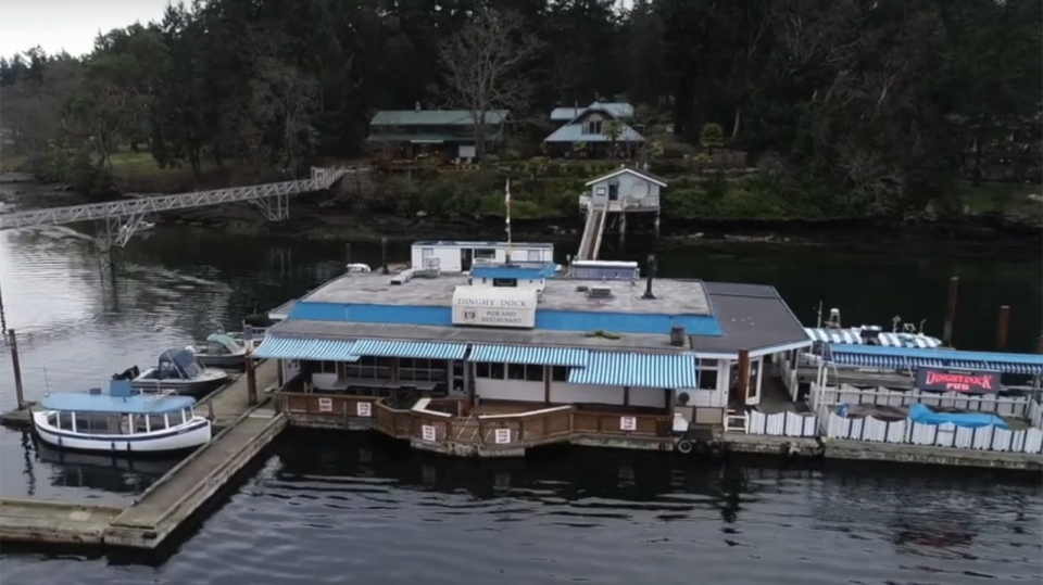 The Dingy Dock Pub on Nanaimo's Protection Island is said to be Canada's only registered floating pub. (YouTube)