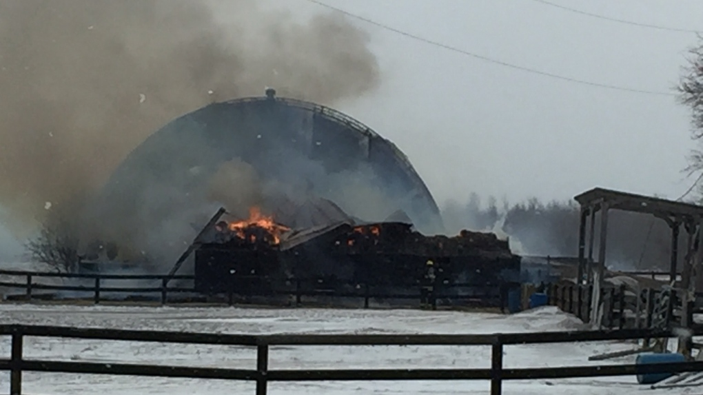 Clearview barn fire