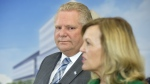 Ontario Premier Doug Ford watches as Health Minister Christine Elliott speaks at an event at The Centre for Addiction and Mental Health in Toronto on Wednesday, Jan. 30, 2019. THE CANADIAN PRESS/Frank Gunn