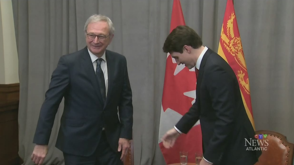 Higgs talks carbon tax with Trudeau