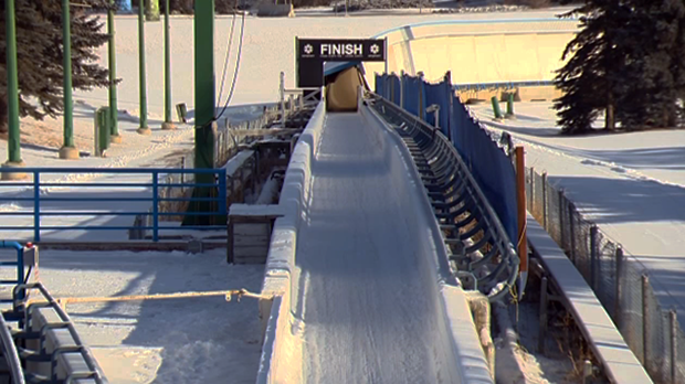 Sliding track at WinSport in Calgary