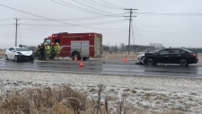 A crash on Highway 7/8