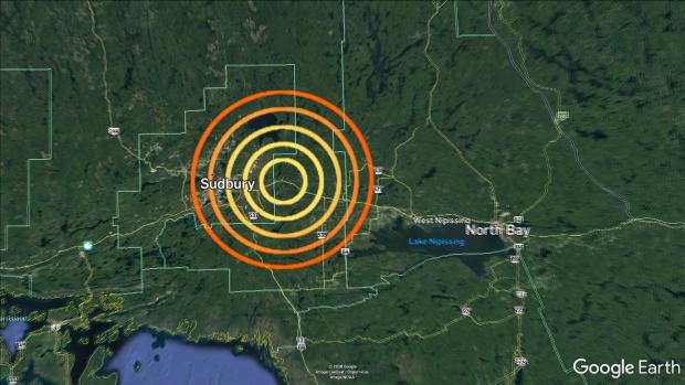 Sudbury 2.9 magnitude earthquake