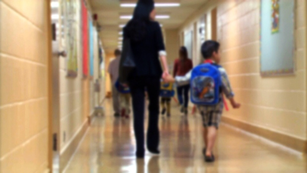 Child, hallway
