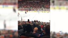 Oilers fans toss jerseys after loss