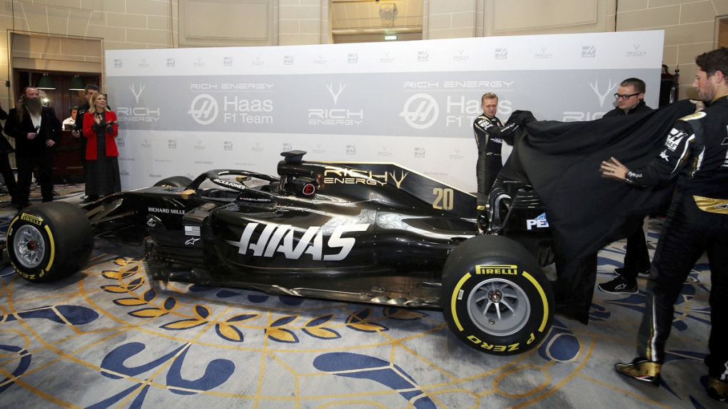 Haas Changes F1 Car From Grey To Black And Gold For 2019 Ctv News