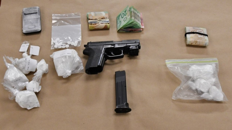 Police seized drugs and cash after searching four addresses in London, Ont. on Wednesday, Feb. 6, 2019. (Source: London Police Service)