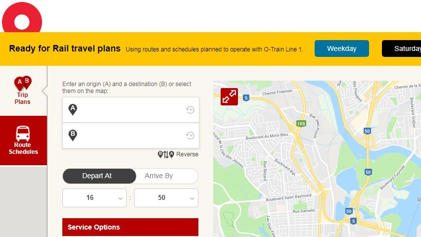 The Ready For Rail travel planner will give riders a chance to plan their routes for when the LRT is running.
