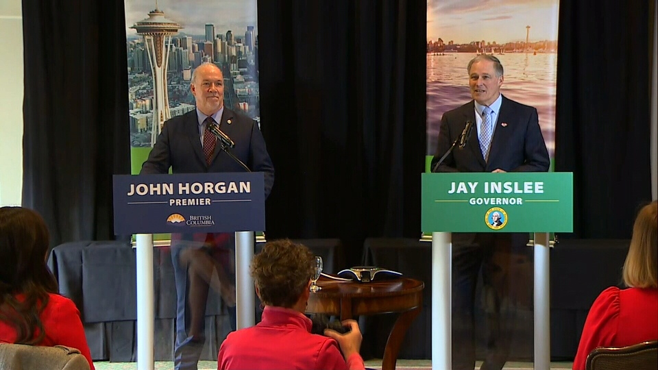 Premier John Horgan announces the province will help fund the next proposed phase of the rail study.