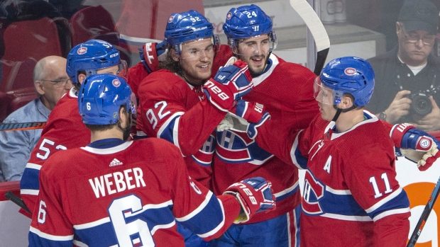 Drouin S Four Point Night Leads Habs Past Jets 5 2 Ctv News